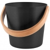 Μαύρος κάδος σάουνας αλουμινίου με ξύλινη λαβή Rento
