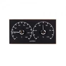 Θερμόμετρο-Υγρόμετρο μαύρο Auroom